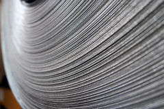 Steel Coil Close-Up stock photography