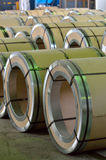 Steel coil pack Royalty Free Stock Photography