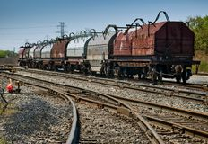 Steel Coil Train Stock Photos
