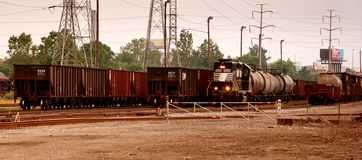 Steel Coil Train Yard Stock Image