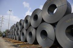 Steel Coils Stock Image