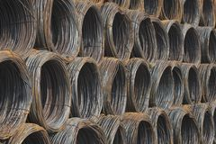 Steel coils Royalty Free Stock Images