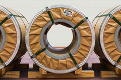 Steel coils Royalty Free Stock Photo
