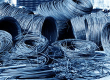 Steel coils on construction sites Royalty Free Stock Photos