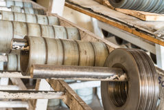 Steel coils production chain Royalty Free Stock Images