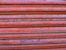 Steel Columns Orange Pile Together Stock Image