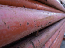 Steel Columns Orange Pile Together Royalty Free Stock Photo