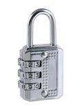 Steel combination padlock Royalty Free Stock Photo