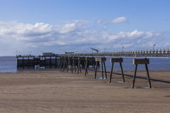 Steel and concrete pier manmade structure Royalty Free Stock Photo