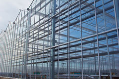 Steel construction. New residential construction home metal framing against a blue sky Stock Image