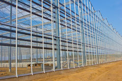 Steel construction. New residential construction home metal framing against a blue sky Stock Photography
