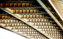 Steel construction. With check patterns Stock Photo