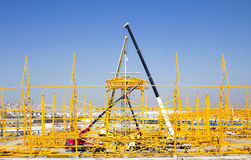 Steel construction Stock Image