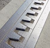 Steel construction of bridge with expansion joints Royalty Free Stock Photo