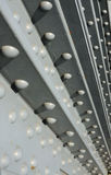Steel construction fastened with rivets Stock Photography