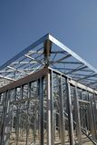 Steel Construction Framing. Building with steel frame construction Royalty Free Stock Images