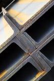 Steel construction girders. Details of interlocking steel construction girders stock photo