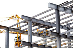 Steel construction with girders isolated Royalty Free Stock Photography