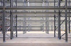 Steel construction of high bay stock Stock Images