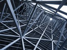 Steel Construction Metal frame pattern Architecture detail background. Steel Construction Metal frame pattern Architecture detail Industry background royalty free stock image