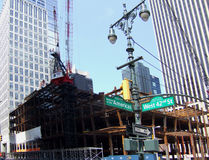 Steel construction NY Royalty Free Stock Image
