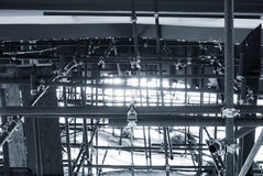 Steel Construction Pattern Building Industrial. Concept royalty free stock photography