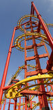 Steel construction of a roller coaster Royalty Free Stock Photography