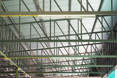 Steel for construction and roof of factory Stock Photography