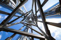 Steel construction view from below Royalty Free Stock Photos