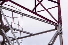 Steel construction view from below. Royalty Free Stock Photography