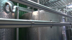 Steel constructions in new modern beer drink  brewery stock video footage