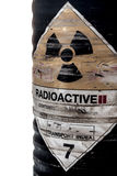Steel container of Radioactive material Stock Images