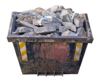 Free Steel Container  With Concrete And Building Stones Royalty Free Stock Photos - 82027378