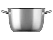 Steel cooking pot  on white background Royalty Free Stock Photography