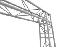 Steel corner of stage construction Royalty Free Stock Image