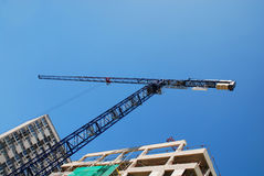 Steel Crane At Building Site Royalty Free Stock Photography