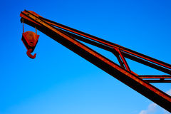Steel crane vintage Santiago de Compostela Royalty Free Stock Photo