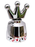 Steel crown  for champagne.Screwpull  Royalty Free Stock Image