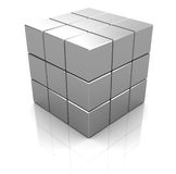 Steel cube Stock Images