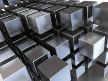 Steel cubes Stock Photography