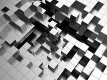 Steel cubes background. Abstract 3d illustration of steel cubes background Royalty Free Stock Photos