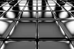 Steel cubes flooring perspective view Stock Image