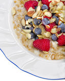 Steel Cut Oats, Berries, and Nuts Stock Photos
