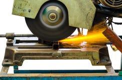 Steel cutter machine. Cutting metal by steel cutter machine Royalty Free Stock Photo