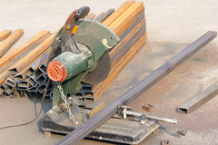 Steel cutting machine Royalty Free Stock Image
