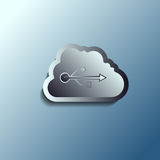 Steel 3d vector cloud. Data storage. Stock Photo