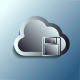 Steel 3d vector clouds. Storage. Royalty Free Stock Image