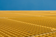 Steel Desert. Metal grid cover of a water pump station in Arnhem, the Netherlands Royalty Free Stock Image