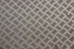 Steel diamond plate background. Dirty and scratched steel diamond plate background Stock Photography