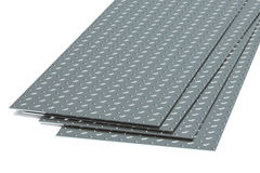 Steel diamond plates Stock Photography